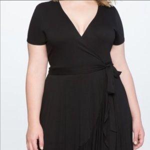 eloquii black wrap dress
